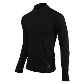 NIKE Long Sleeve Hyperwarm Special Field Fitted 1/4 Zip Mock Black