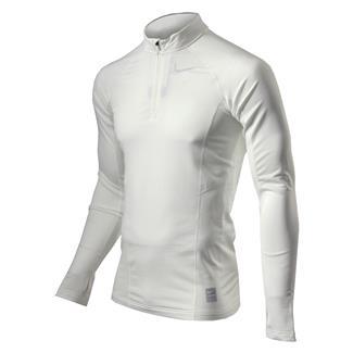 NIKE Long Sleeve Hyperwarm Special Field Fitted 1/4 Zip Mock White