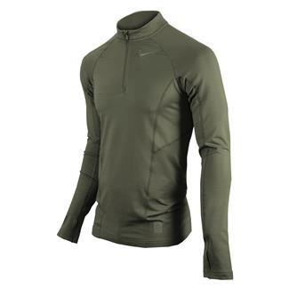 NIKE Long Sleeve Hyperwarm Special Field Fitted 1/4 Zip Mock Steel Green