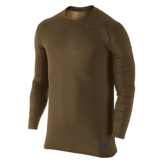 NIKE Hypercool Long Sleeve Special Field Fitted Shirt Military Brown