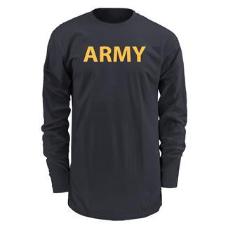Soffe Long Sleeve Army PT T-Shirt Black