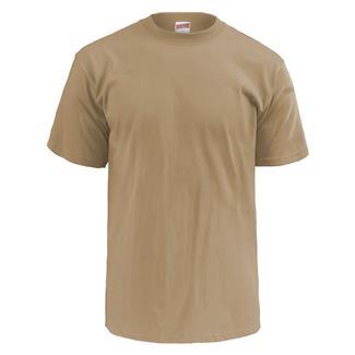 Soffe Lightweight Crew Neck T-Shirt (3 Pack) Tan