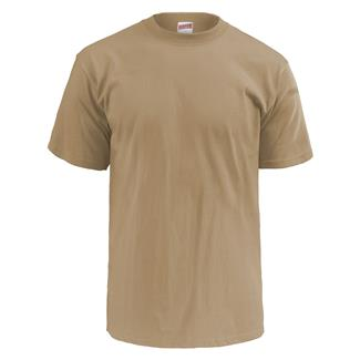 Soffe Lightweight Crew Neck T-Shirt (3 Pack) Tan