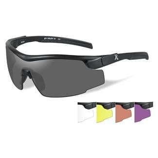 Wiley X Remington Platinum Grade Shooting and Hunting Matte Black (frame) - Smoke / Clear / Yellow / Persimmon / Purple (5 Lenses)