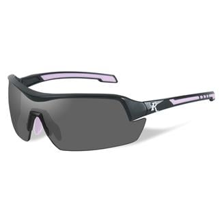 Wiley X Remington Platinum Grade Shooting and Hunting 1 Lens Smoke Matte Black / Pink