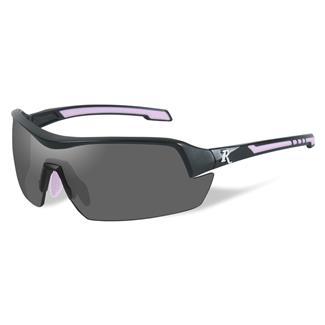 Wiley X Remington Platinum Grade Shooting and Hunting Matte Black / Pink 1 Lens Smoke