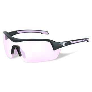 Wiley X Remington Platinum Grade Shooting and Hunting Clear Rose 1 Lens Matte Black / Pink