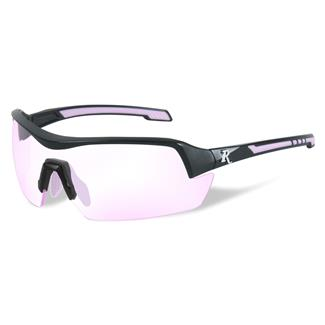 Wiley X Remington Platinum Grade Shooting and Hunting Matte Black / Pink 1 Lens Clear Rose