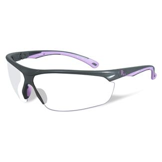 Wiley X Remington Industrial Matte Gray / Pink (frame) - Clear (lens)