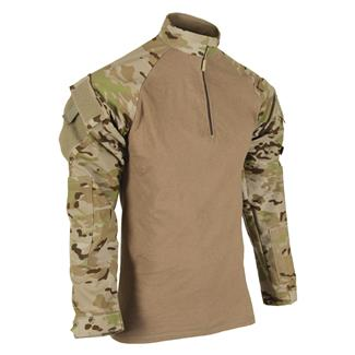 Tru-Spec Nylon / Cotton 1/4 Zip Tactical Response Combat Shirt TRU MultiCam Arid