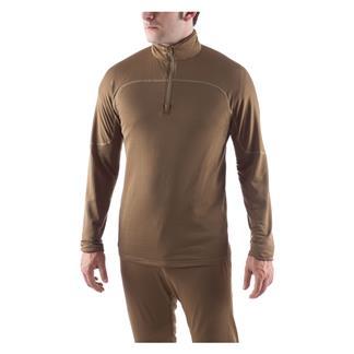 Massif PCU 1/4 Zip Level 2 Shirt Army Brown