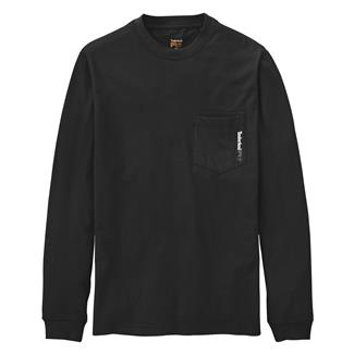 Timberland PRO Workwear Long Sleeve Base Plate Blended T-Shirt Jet Black