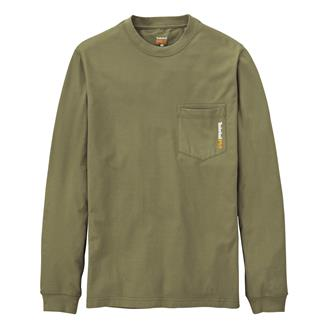 Timberland PRO Long Sleeve Base Plate Blended T-Shirt Burnt Olive