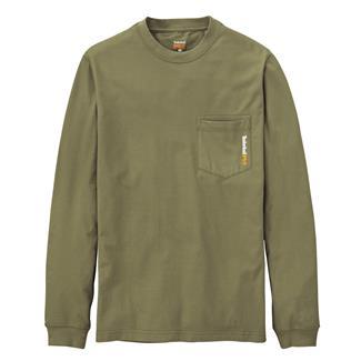 Timberland PRO Workwear Long Sleeve Base Plate Blended T-Shirt Burnt Olive