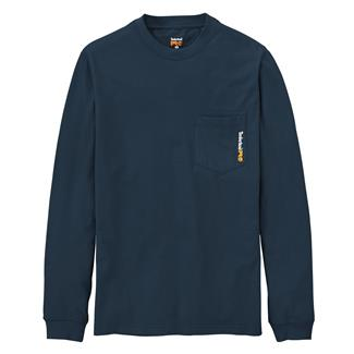 Timberland PRO Long Sleeve Base Plate Blended T-Shirt Dark Navy