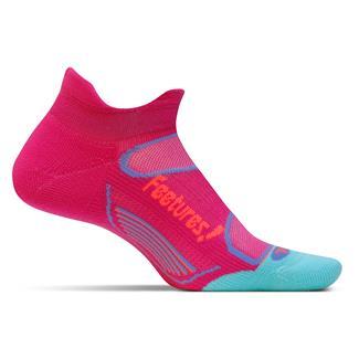 Feetures! Elite Light Cushion No Show Tab Socks Deep Pink / Aruba Blue