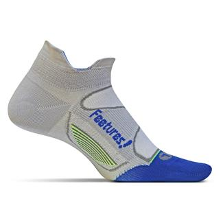 Feetures! Elite Ultra Light No Show Tab Socks Gray / Olympian Blue