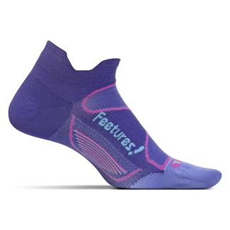 Feetures! Elite Ultra Light No Show Tab Socks Deep Purple / Periwinkle