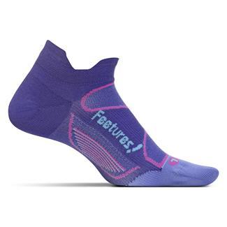 Feetures! Elite Ultra Light No Show Tab Socks Deep Purple / Periwinkle