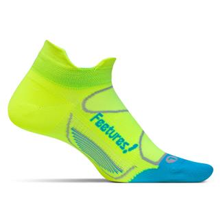 Feetures! Elite Ultra Light No Show Tab Socks Reflector / Aqua