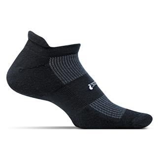 Feetures! High Performance 2.0 Light Cushion No Show Tab Socks Black