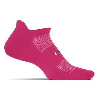 Feetures! High Performance 2.0 Light Cushion No Show Tab Socks Deep Pink