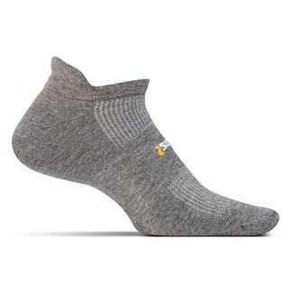 Feetures! High Performance 2.0 Light Cushion No Show Tab Socks Heather Gray