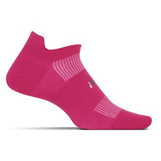 Feetures! High Performance 2.0 Ultra Light No Show Tab Socks Deep Pink