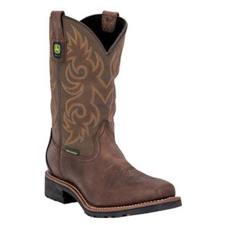 "John Deere 11"" Western Work Square Toe WP Tan / Brown"