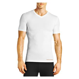 Tommie Copper Recovery Compression V-Neck T-Shirt White