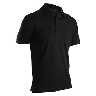 24-7 Series Short Sleeve Comfort Cotton Polo Black