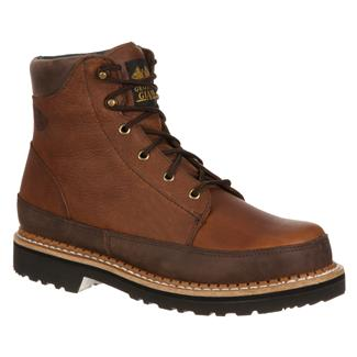 "Georgia 6"" Giant Casual Lace-Up Dark Brown"