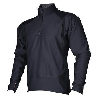 24-7 Series Cross-Fit Grid Fleece Pullover Black
