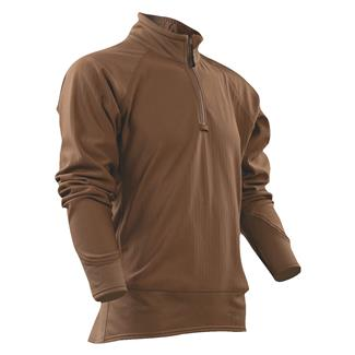 24-7 Series Cross-Fit Grid Fleece Pullover Coyote