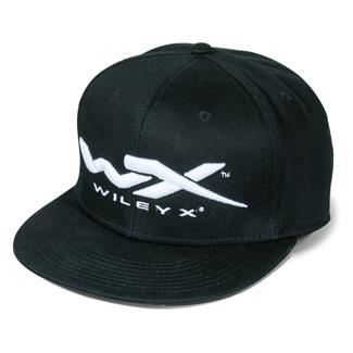 Wiley X Snapback Flat Bill Hat Black