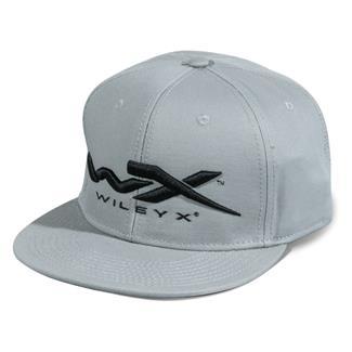 Wiley X Snapback Flat Bill Hat Gray
