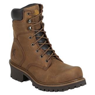 "Chippewa Boots 8"" Oblique Logger 400G Tough Bark"