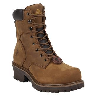 "Chippewa Boots 8"" Oblique Logger 400G ST Tough Bark"