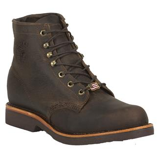 "Chippewa Boots 6"" Classic Lace-Up ST Chocolate Apache"