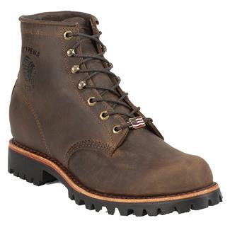 """Chippewa Boots 6"""" Classic Lace-Up Lug Chocolate Apache"""