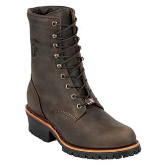 "Chippewa Boots 8"" Classic Logger Chocolate Apache"