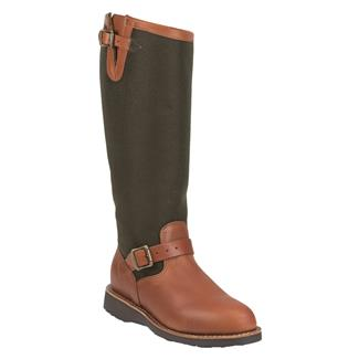 """Chippewa Boots 15"""" Pull-On Snake Boots Brown Espresso"""
