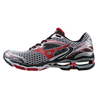 Mizuno Wave Creation 17 Silver / Chinese Red / Black