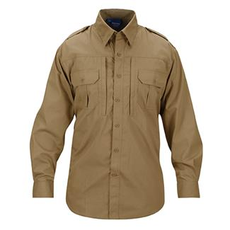 Propper Lightweight Long Sleeve Tactical Dress Shirts Coyote Tan