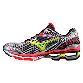 Mizuno Wave Creation 17 Silver / Safety Yellow / Diva Pink