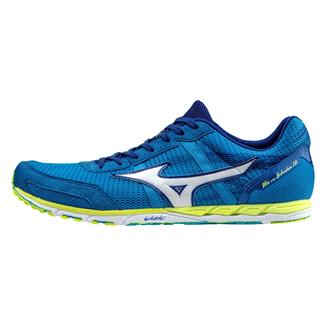 Mizuno Wave Ekiden 10 Dude Blue / White / Safety Yellow
