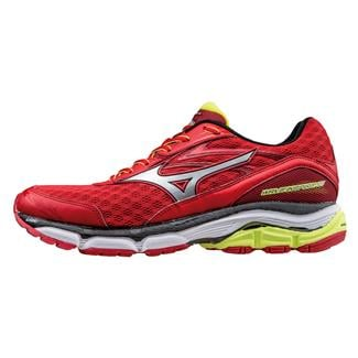 Mizuno Wave Inspire 12 Chinese Red / Silver / Safety Yellow