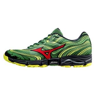 Mizuno Wave Kazan Mint Green / Chinese Red / Safety Yellow