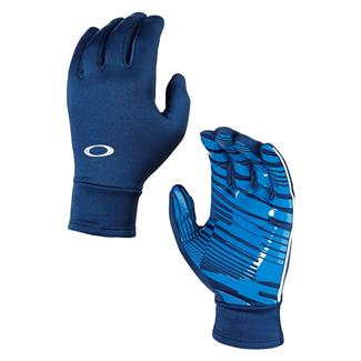 Oakley Midweight Fleece Gloves Dark Blue
