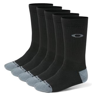 Oakley Performance Basic Crew Socks (5 Pack) Black